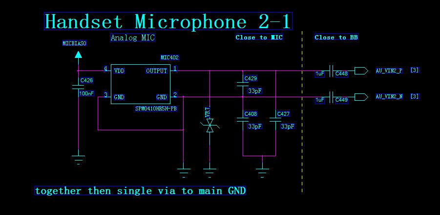 智能手机上硅麦电路求解