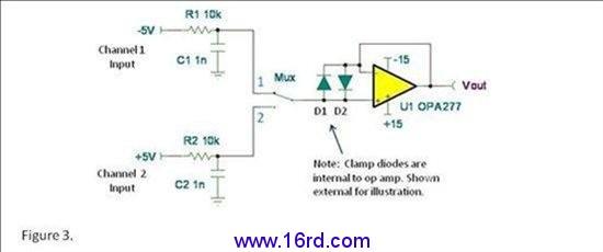 差动输入钳位—影响运算放大器电路吗?