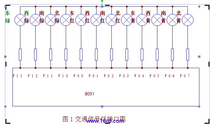 at89c51单片机控制的交通灯设计
