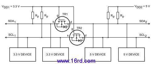 对于3.3v和5v/12v等电路的相互转换,nmos管选择ap2306即可.