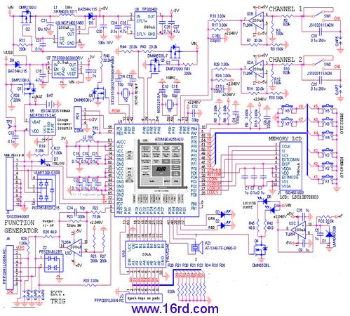 可穿戴示波器手表设计电路(详细)